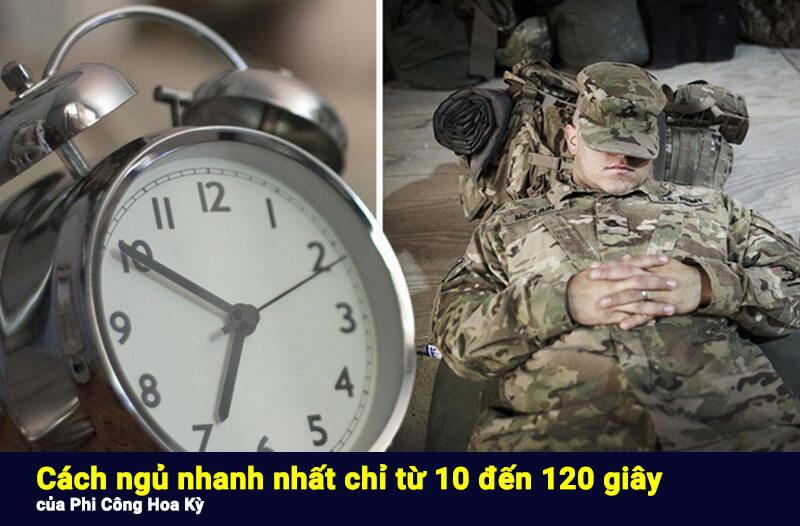 Cách ngủ nhanh nhất thế giới